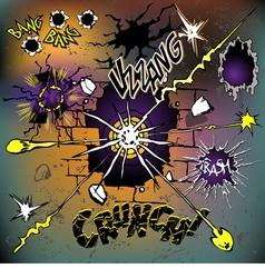 comics crash set vector image vector image