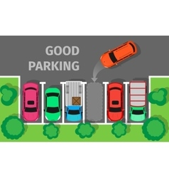 Good Parking Top View vector image vector image