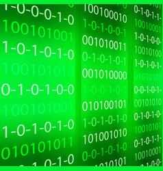 green binary computer code repeating vector image vector image