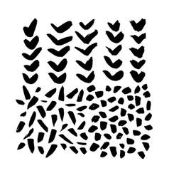 hand drawn brush grunge elements vector image
