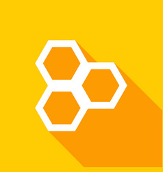 honeycomb icon with a long shadow vector image