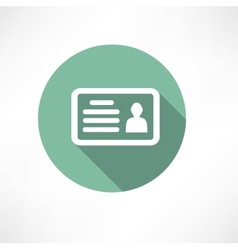 identity card icon vector image