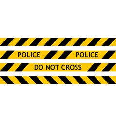 Seamless tape fencing police vector image vector image
