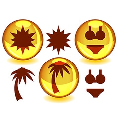 Sunny spheres vector