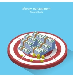 Money management financial goal flat style vector image vector image