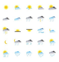 nature and weather icons vector image vector image