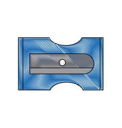 Sharpener pencil tool school icon vector
