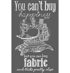 Vintage fashion and sewing poster vector image