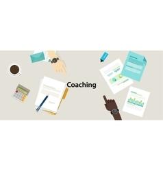 business coaching professional management training vector image