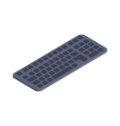 Computer keyboard isometric flat icon vector image