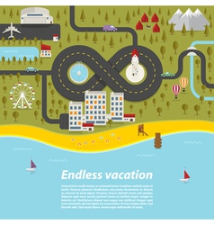 Endless vacation vector image vector image