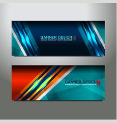 header banner design vector image vector image