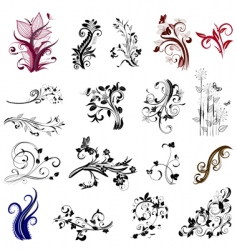 plant patterns vector image vector image