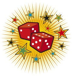 Red dices design vector
