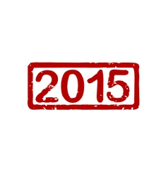 Stamp 2015 vector image