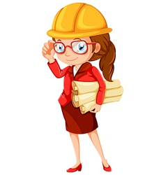 A female engineer vector