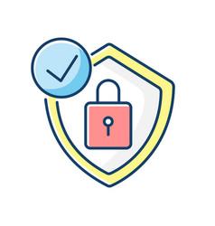Antivirus rgb color icon vector