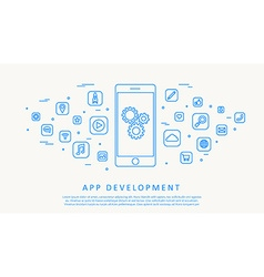 app development thin line design vector image