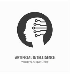 artificial intelligence icon symbol machine vector image