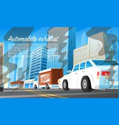 automobile exhaust air pollution environmental vector image