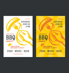 barbecue party flyer or poster design vector image