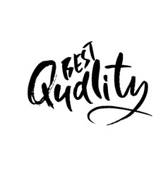 best quality ink handwritten lettering modern vector image