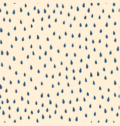 blue raindrops on beige background seamless vector image