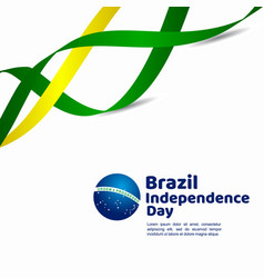 Brazil independence day template design vector