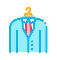 business suit costume job hunting icon vector image
