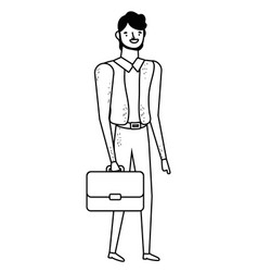 Businessman with suitcase design vector