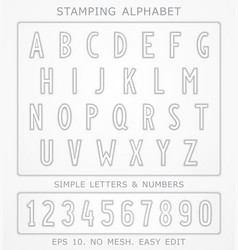car license plate design alphabet vector image