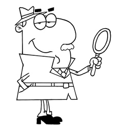 Cartoon detective vector