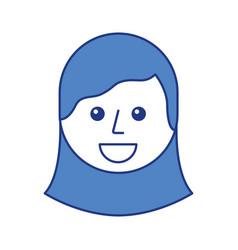 cartoon young teenager happy girl smiling vector image