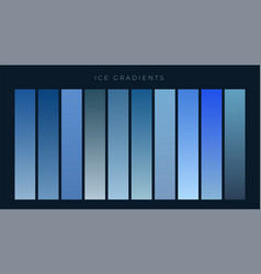 collection blue gradients background vector image