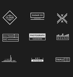Collection of logos vector image