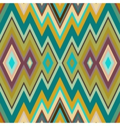 Color Abstract Retro Zigzag Background vector image