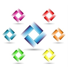 Color rectangle symbol vector