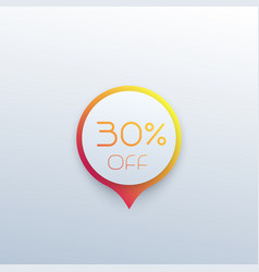 Discount sticker or sale tag vector