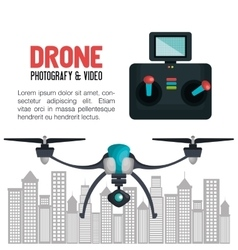 Drone technology service icon vector