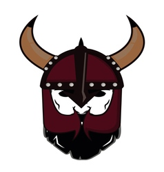 emblem Viking warrior skull logo vector image