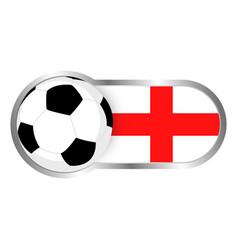 england soccer icon vector image