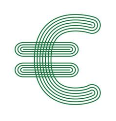 euro currency icon stripe symbol vector image