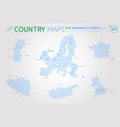 European union sweden united kingdom belgium vector