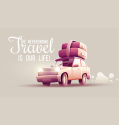 Family travel vacation drive vector