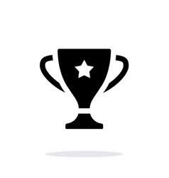 Favorite cup icon on white background vector