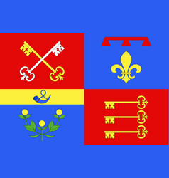 Flag of vaucluse is a department of france vector