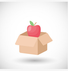 food donation flat icon vector image