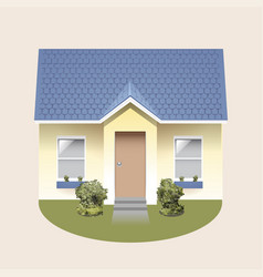 front house isolated vector image