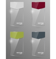 Glass banner set Design template vector image