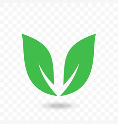 green leaf arrow icon for vegan food vector image